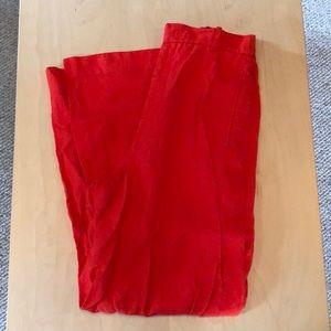 Zara red wide leg trousers